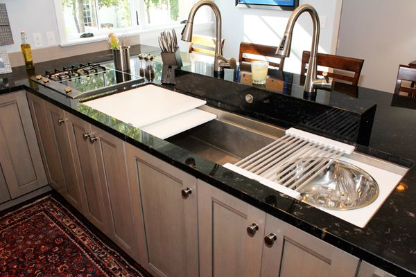 We love this galley sink featured at the kitchen and bath for Galley kitchen sink