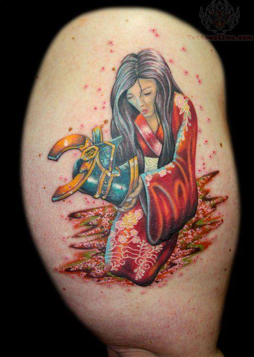Best Anime Girl Samurai Tattoos Designs Images On Pinterest - Best traditional samurai tattoo designs meaning men women