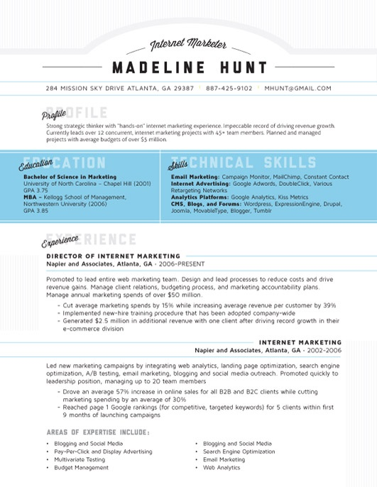 52 best Contemporary Resumes images on Pinterest | Resume ideas ...