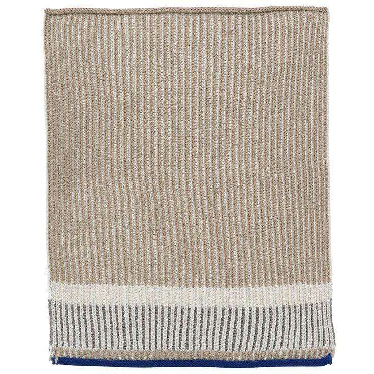 Akin Knitted Tea Towel 34x70cm, Beige, Ferm Living