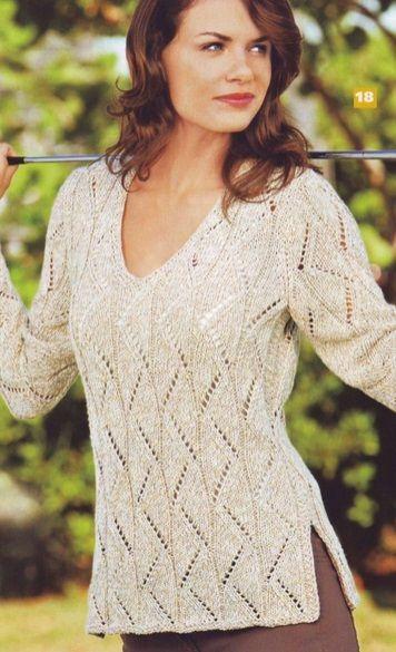 esquema suéter hecho punto