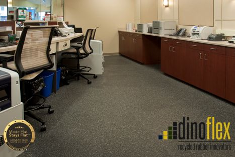 Do your employees ever complain about hard floors in your workplace? Well, we have the solution! Dinoflex Next Step Walk Soft recycled rubber flooring reduces back and joint pain while improving under foot comfort. Visit our website www.dinoflex.com for all of our color options #Dinoflex #NextStepWalkSoft #MadeFlatStaysFlat #UniquelyDifferent