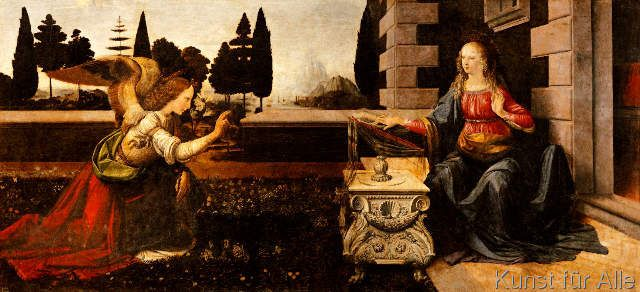 Leonardo da Vinci - Die Verkündigung