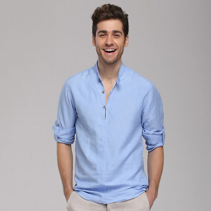 Linen shirts for men- a friend during the summers | allamodafashion
