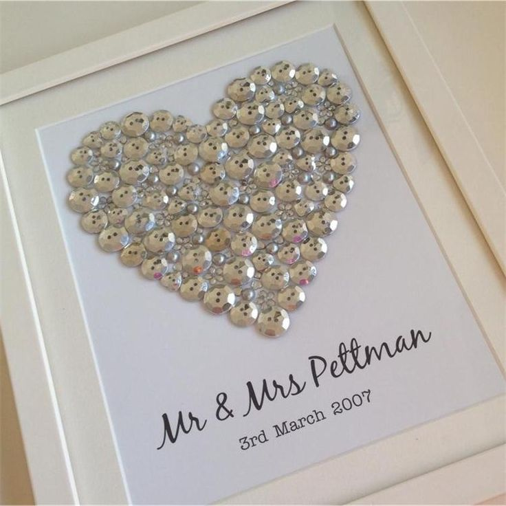 Personalised gift for any occasion - the silver button heart