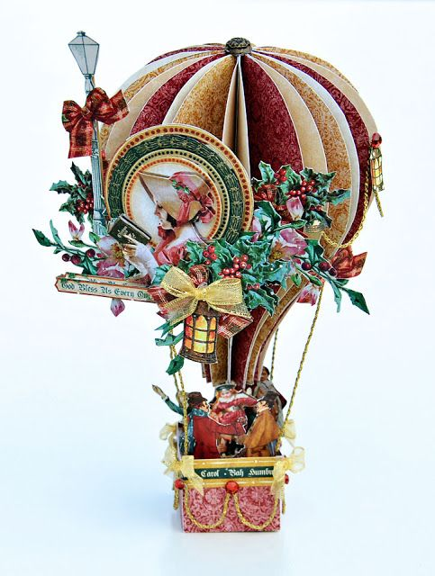 Scrappin For Me: Graphic 45 - Christmas Carol Balloon                                                                                                                                                                                 More
