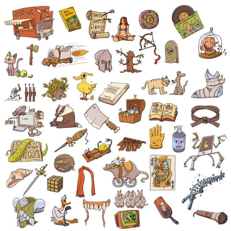 Larsson Portfolio - Relic illustrations from the 1000 Heroz game by...
