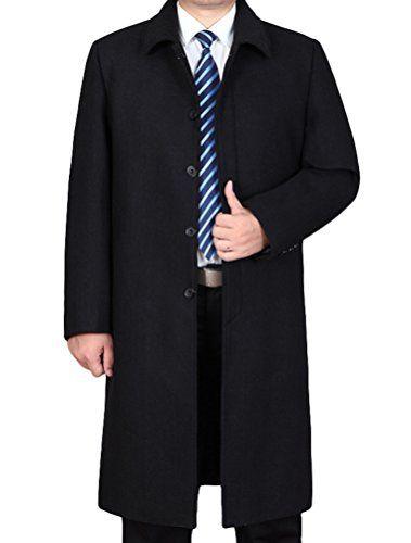 Mantel lang schwarz