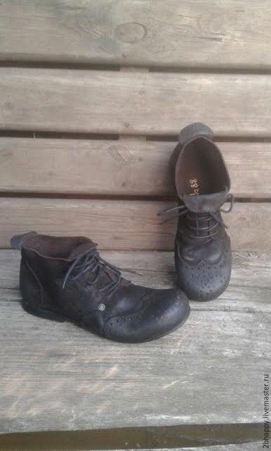 Купить Ботинки коричневые ЭСПРЕССО - коричневый, ботинки замшевые, темно-коричневый, цвет кофе