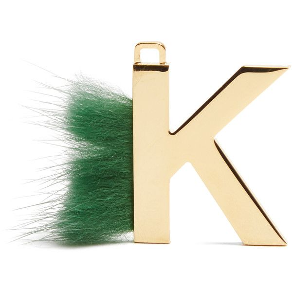 Fendi abclick letter k key charm 4668295 idr liked on for Fendi letter keychain