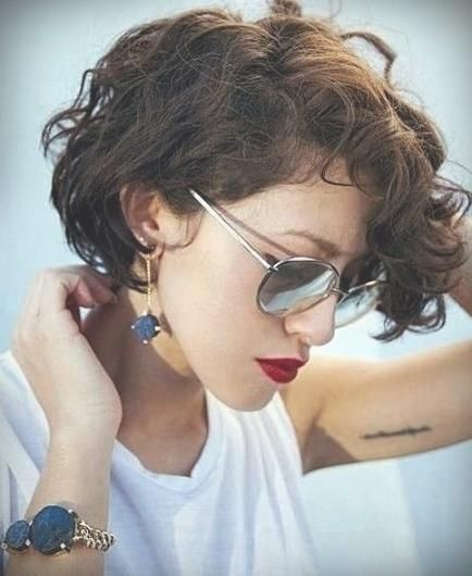 15 Ideen Frisuren Mittellang Lockiges Haar 2018 Bezogen Auf 25