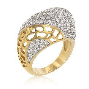 J Goodin Fashion Cubic Zirconia Victoria Ring Size 6
