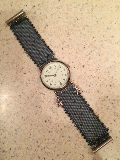 Denim watch band