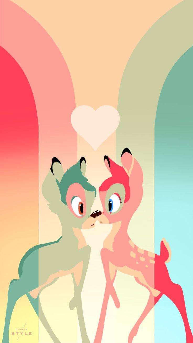 Bambi & Faline Phone Wallpapers | Fondo de pantalla Bambi y Faline | Bambi | @dgiiirls