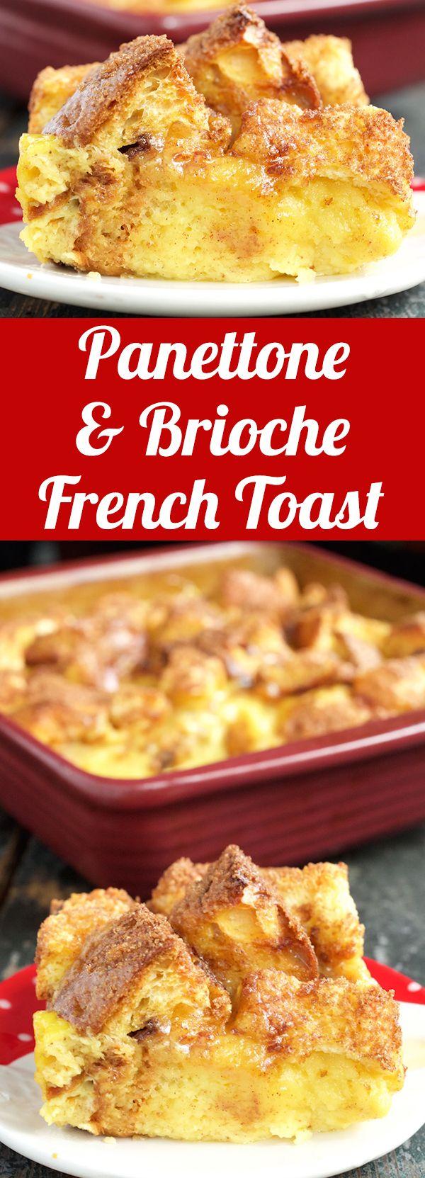 Panettone & Brioche French Toast Recipe - Christmas Breakfast Recipes #Christmas #ChristmasRecipes