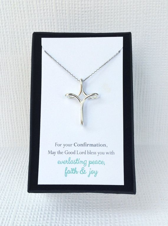 Confirmation Cross Necklace Confirmation Gifts for by AmyOHandmade