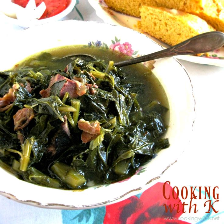 Cooking with K: Southern Style Collard Greens {Granny's Recipe}