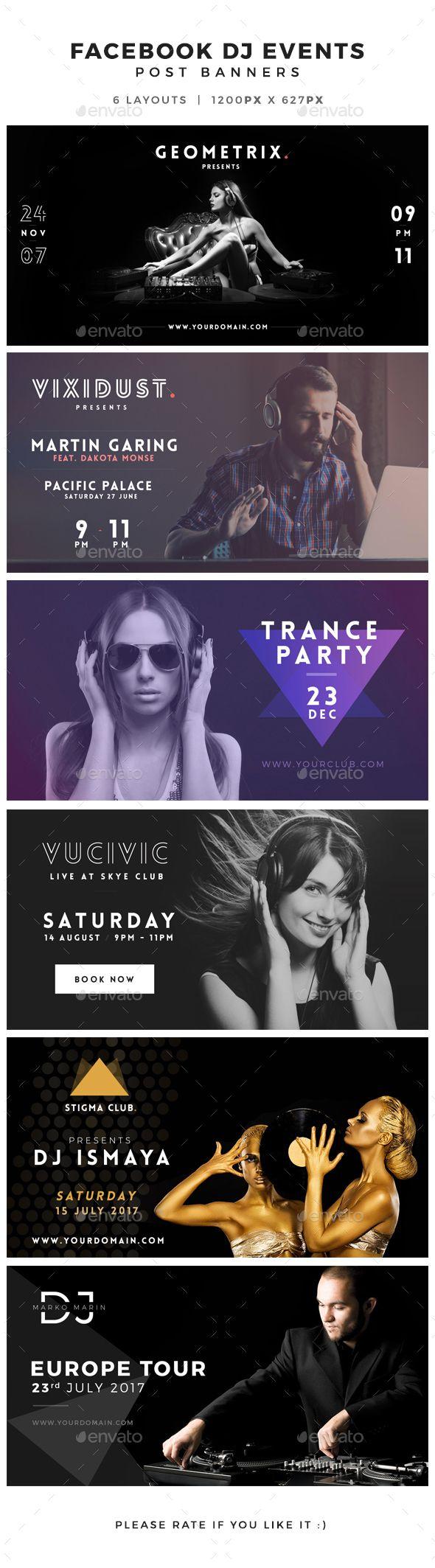 Facebook DJ Events Post Banner — Photoshop PSD #1200x627 #fb • Download ➝ https://graphicriver.net/item/facebook-dj-events-post-banner/14062288?ref=pxcr