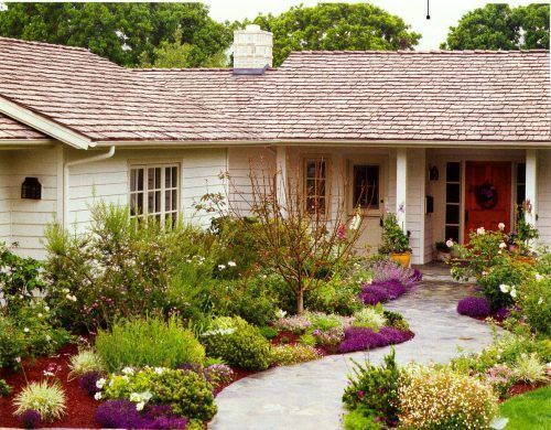 Landscaping – different heights, multiple colors, curved/flowing flower beds. – …