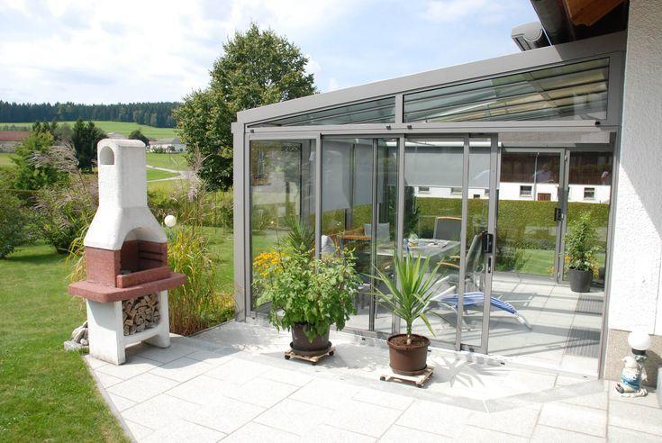Moderner Sommergarten in Aluminium nach Maß in Österreich