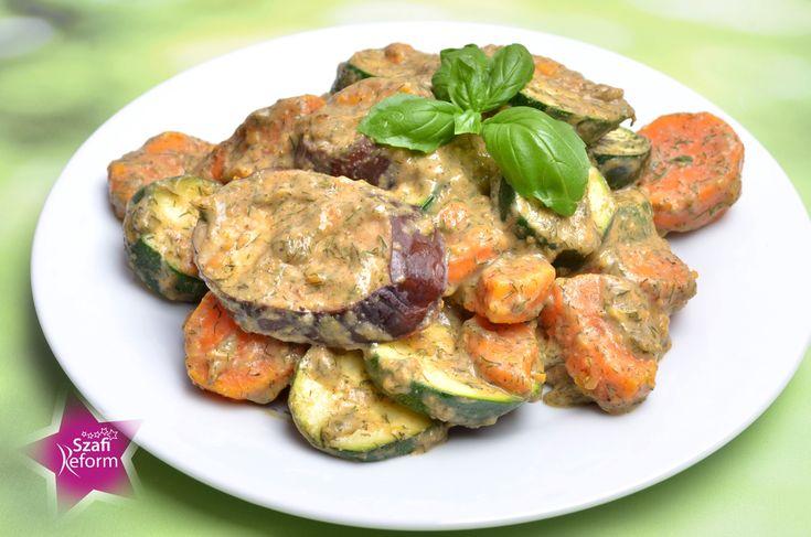 Kaproskókusztejszínes sütőben sült zöldségek 4 adag