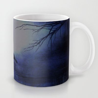 Whit this beautiful moon Mug by Oscar Tello Muñoz - $15.00