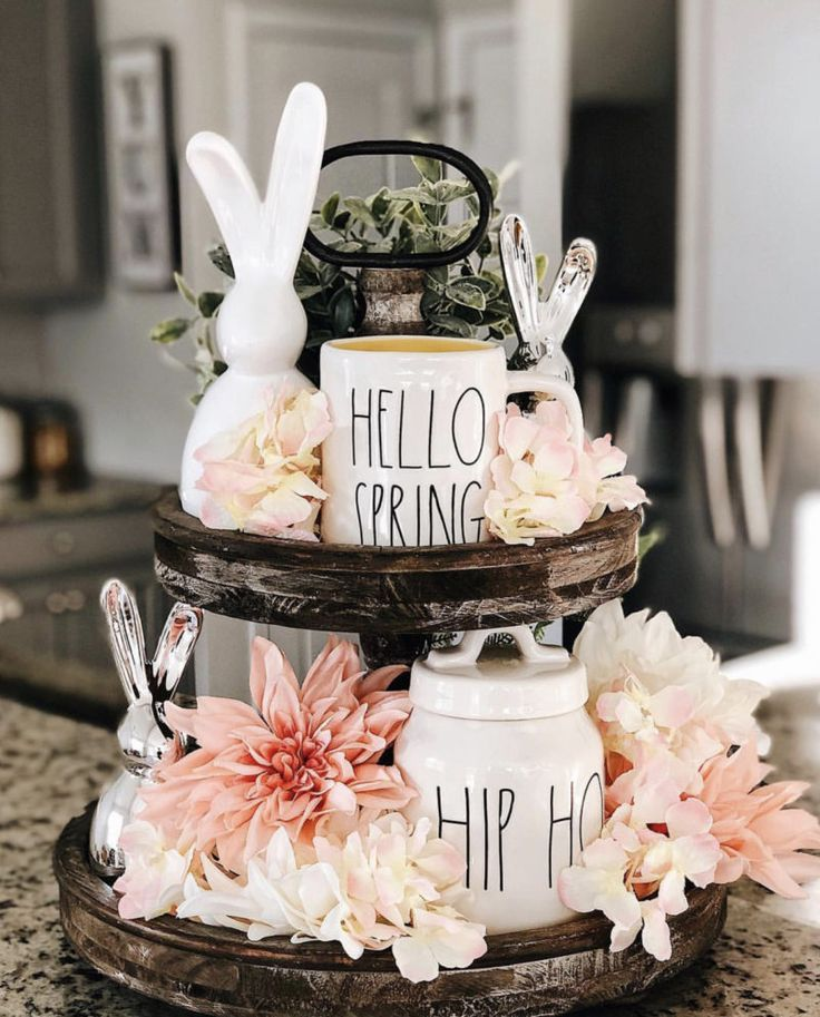 Inspiring Tiered Tray Style Ideas For Spring And Easter