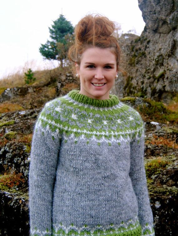 Bragi Icelandic Sweater Handmade with 100 by IcelandicKnitsbyAnna