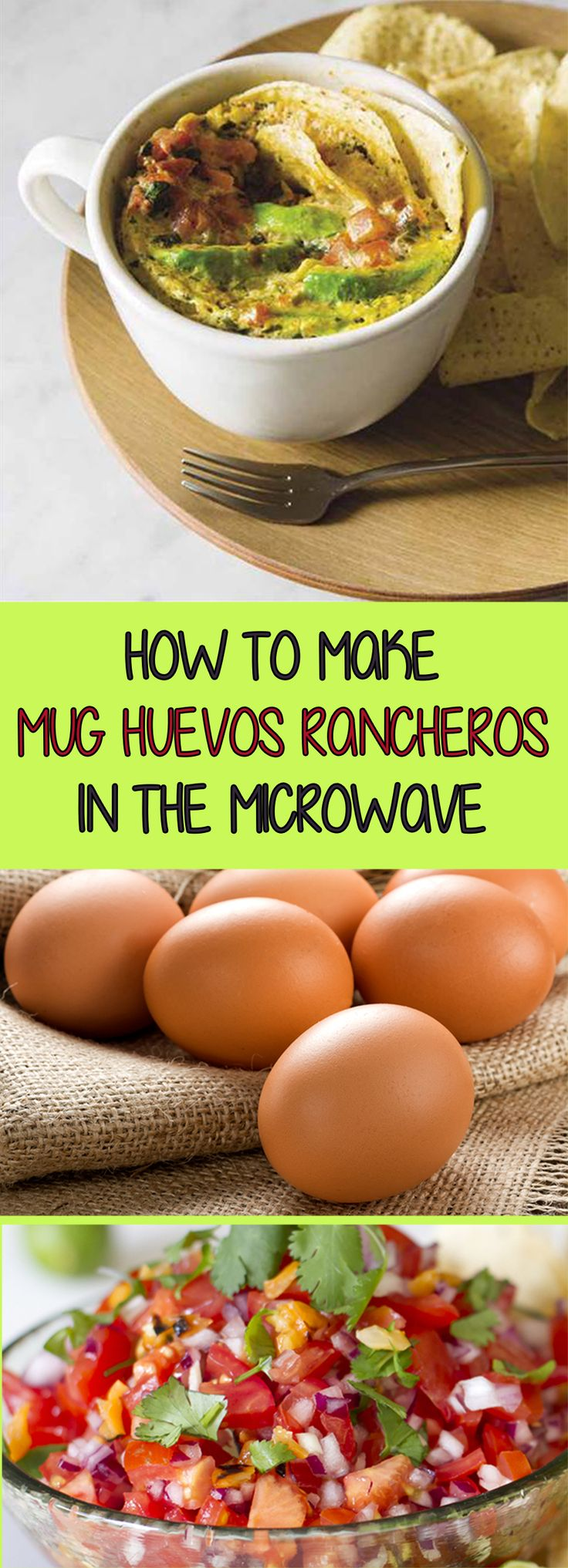 Make a 3-minute huevos rancheros recipe in a mug