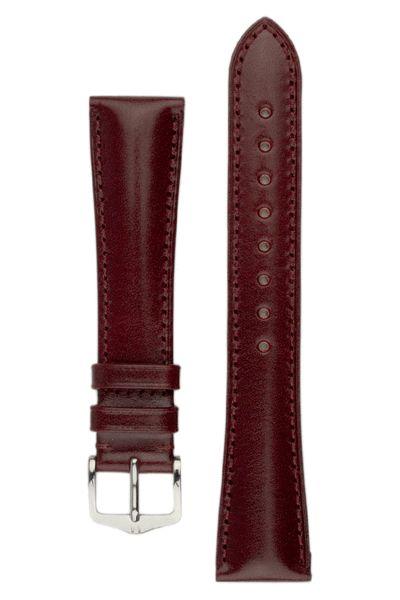 Hirsch SIENA Tuscan Leather Watch Strap in BURGUNDY