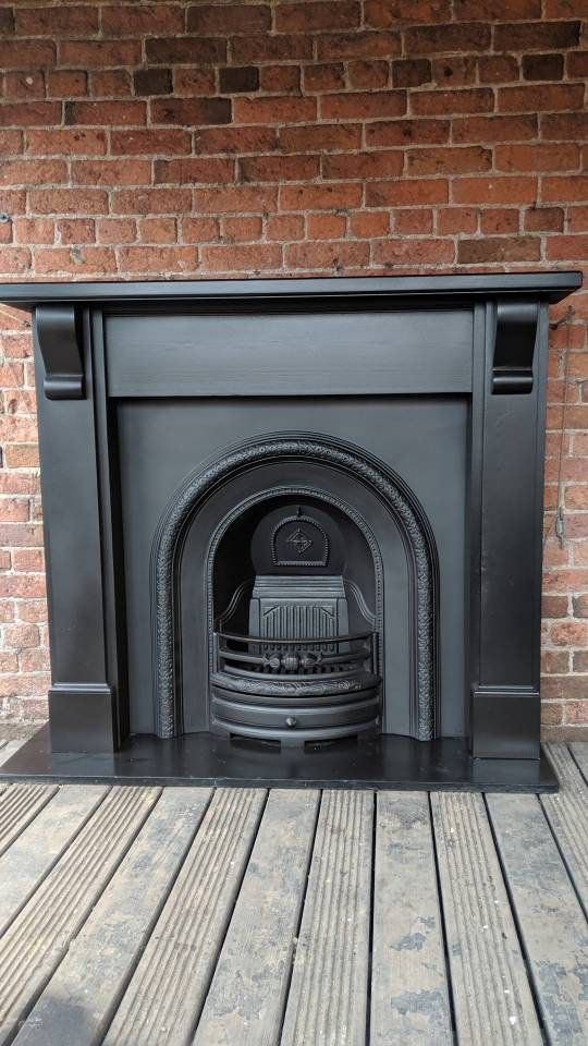 Cast Iron Fireplace And Surround Woodburning Cast Iron Fireplace Fireplace Copper Room Decor