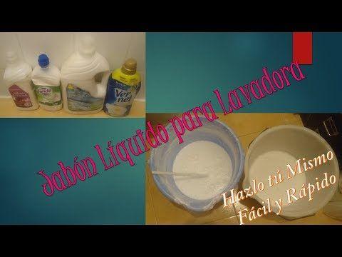 Como hacer Jabón Líquido para lavadora en poca cantidad - YouTube