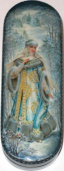 Fedoskino: Belova Margarita - Lady Winter