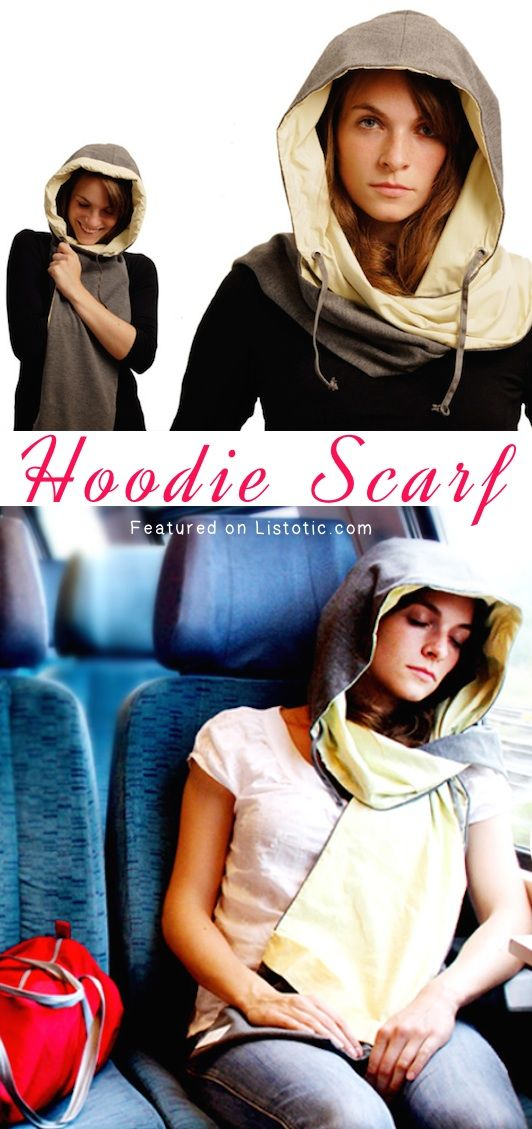 #15. A hoodie scarf with a built in cushion for taking naps! -- 25 Brilliant Clothing Items You Didn't Know You Could Buy