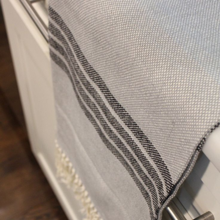 OALLA Hand Towel- Grey |$35.00| Absorbent and quick drying. Living Threads Co. livingthreadsco.com