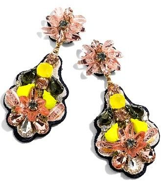 Women's J.crew Botanical Embroidered Drop Earrings