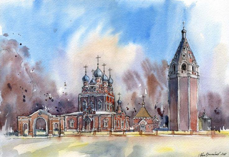 Казанская церковь в г. Устюжна, Вологодская область. Автор: Иван Краснобаев