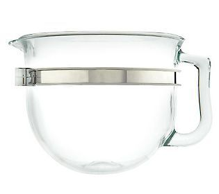 QVC has the entire KitchenAid mixer on sale right now. I have one and just want the bowl, isn't it sexy? Pinnig as a reminder, but you should go get a mixer! KitchenAid 6 qt 575 Watt Glass Bowl Lift Stand Mixer w/ Flex Edge & 3 Acces.