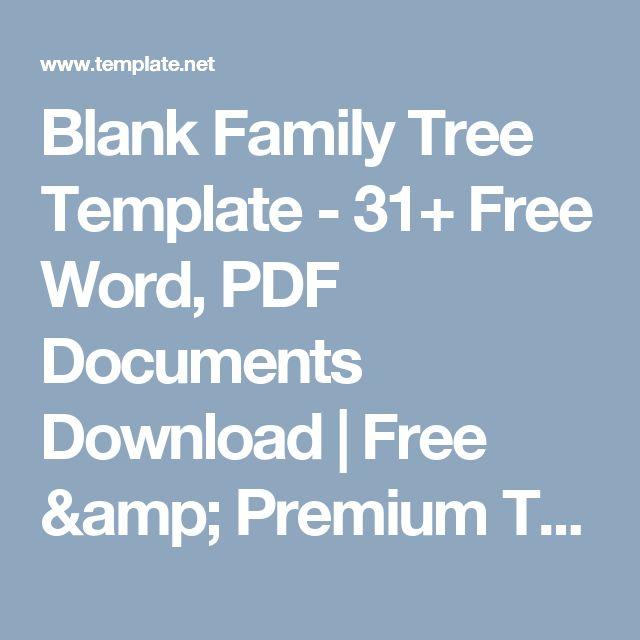 Mais de 25 ideias únicas de Family tree template word no Pinterest - blank family tree template