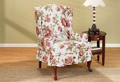dining room chair slipcovers floral design | 106 best images about Decorate with floral patterns on ...