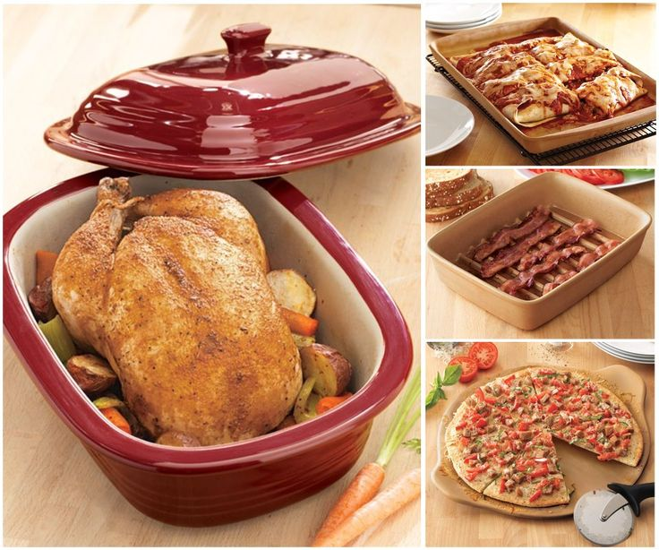 Beautiful image of pampered chef stoneware