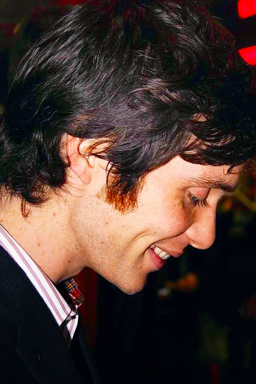 Cillian Murphy - smiling profile. He's so beautiful I think I just died!!