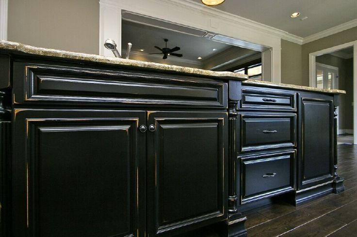 black kitchen cabinets distressed - Yahoo! Search Results ...