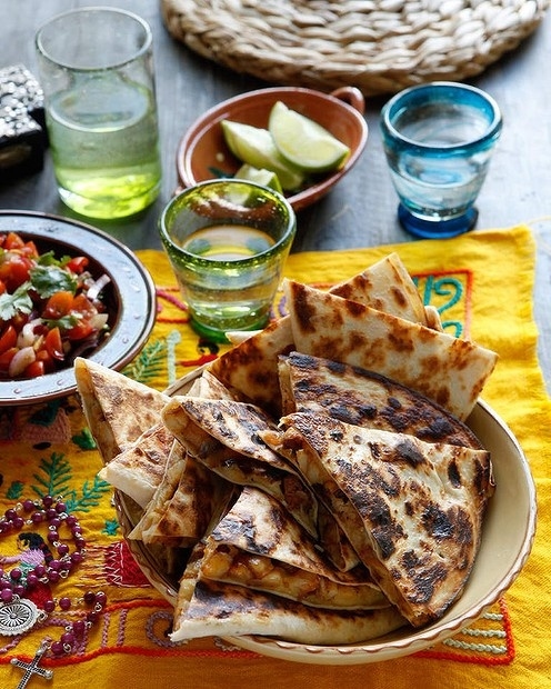 Caroline Velik's quesadillas with potato and chorizo. Photo by Marina Oliphant.