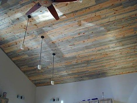 Beetle Kill Pine For Backyard Porch Ceiling And Upper Deck Porch (will  Match Well With The Gray Exterior/front Porch)