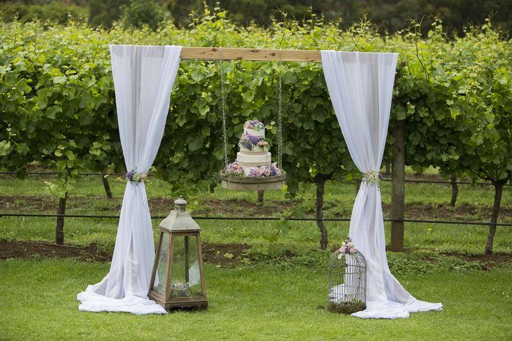 elegant hanging cake