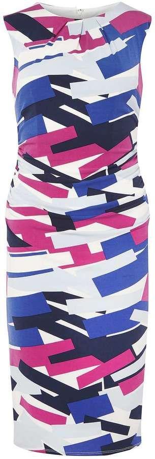 **Lily & Franc Multi Coloured Graphic Print Bodycon Dress