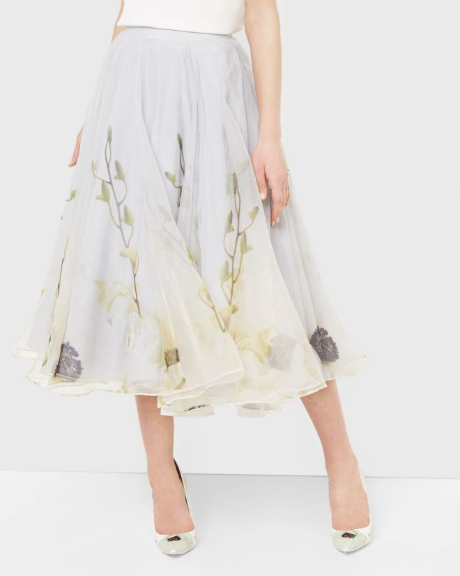 Pearly Petal tulle skirt - Ash | Skirts | Ted Baker