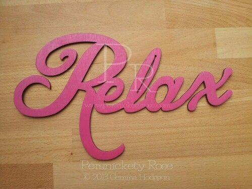 Relax Bathroom Sign