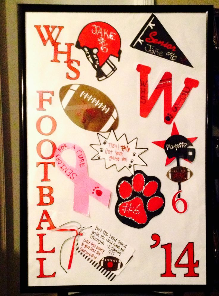 Senior Football Locker Decoration Going To Use It As At The Athletic Banquet Then Hang In His Roomdoing Same With Baseball